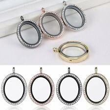 Living Memory Oval Glass Locket for Floating Charms Chain Necklace Pendant Hot