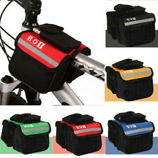 Mountain Bike Bicycle Cycling Sport Frame Pannier Front Tube Double Bag Pouch