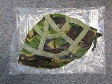 NEW BRITISH ARMY SURPLUS WOODLAND DPM HELMET COVER, MK.6 KEVLAR & PARA,P HELMET