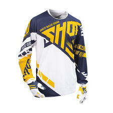 SHOT 2016 MEN'S MOTOCROSS / MTB JERSEY - CONTACT RACEWAY - yellow-blue
