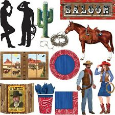Wild West Party Cowboy Indian Western Theme Party Birthday Children Deco