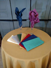 """72 """" Square or Round Tablecloth COTTON  blend  twill  10 COLOR CHOICE  USA"""