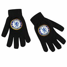 Chelsea FC Knitted Gloves Juniors Black EPL Football Soccer