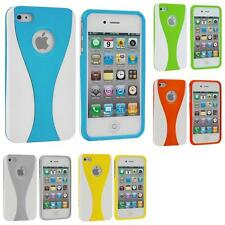 Color White 3-Piece Hard Rubberized Case Cover Accessory for iPhone 4 4S 4G
