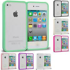 For Apple iPhone 4 4S Hybrid Crystal TPU Slim Shockproof Case Cover Clear Color