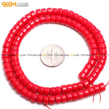 "Column Red Coral Jewelry Making DIY Gemstone Loose Beads Strand 15""Size Select"
