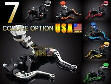 Universal Brake with Clutch Levers CNC Fluid Reservoir Aluminum For Ducati