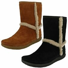 Ladies Clarks Cosy Ankle Boots Moray Glow