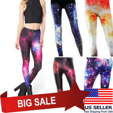 Cosmic Galaxy Leggings Starry Night Sky Milky Way Aurora Space Hipster Trendy US
