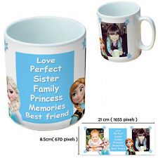 NEW PERSONALISED SISTER BESTFRIEND CUSTOM GIFT MUG YOUR IMAGE PHOTO TEXT