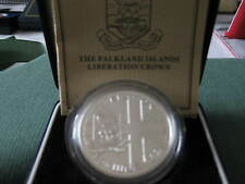 50 Pence Sterling Silver 1982 The Falkland Islands Liberation Crown