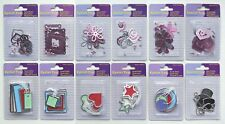 Multi Colours Metal Rimmed Tags OR Metal Eyelet Tags + Brads - Embellishments
