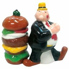 Westland Giftware Popeye Magnetic Wimpy and Hamburger Salt and Pepper Shaker Set