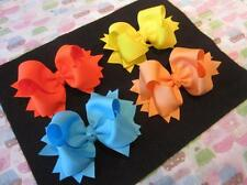 5 inch hair bows, Girls Hairbows, Lot Set of 10 Bows, Boutique Hair Bows, Funky