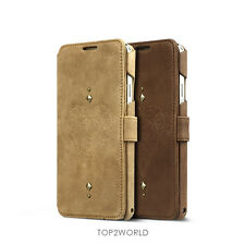 Zenus Retro Vintage Genuine Leather Wallet Cover Case For Samsung Galaxy Note3