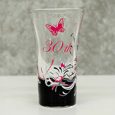Hand Painted Tall Shot Glass 30th Birthday Gift | Pink for Girl | Personalised