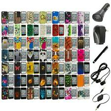 Design Hard Rubberized Color Snap-On Case Cover+Accessories for iPhone 4 4S 4G