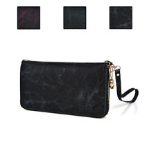 Synthetic Leather Croc Skin Designed Full Zip-Around Clutch Wristlet Wallet