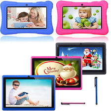 Quad Core 7'' Tablet 16GB HD Android 4.4 KitKat Dual Camera WiFi Bundle for Kids