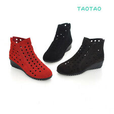 Cute Women's Comfort Ankle Openwork Boots Back Zipper Shoes AU Size 4-7.5 TB786
