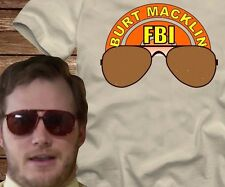 BURT MACKLIN FBI T-shirt -adult sizes-many colors-parks and recreation rec andy