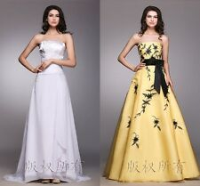 Chiffon Printing Long Bridesmaid Dresses Evening Party Formal Prom A-Line Gowns