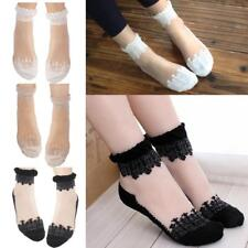 WOMENS LADIES SEXY ELASTIC ULTRATHIN TRANSPATENT LACE ANKLE SOCKS ANKLETS