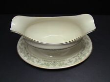 Lenox China NOBLESSE Gravy Boat with attached Underplate