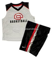 Toddler boys NIKE 2pc outfit shirt and shorts, Basketball, red/black/gray, NWT