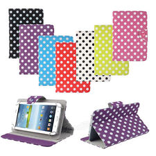 7 inch Universal Skin Polka Dot Leather Stand Case Cover For Android Tablet PC
