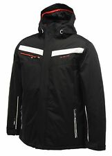 Dare 2b Mens Assert Ski Jacket Hooded Waterproof Coat Black Blue Size  L - 8XL