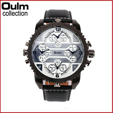 Mens Oversize Sport Casual Military 4 multi Time Zone Unique Fashion Wrist Watch