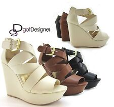 NEW Women's Fashion Party Shoes Platforms Wedges High Heels Summer Sandals Strap