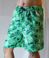Men Board Shorts Boardshort Beach Swim Trunks Casual Boardies Male Green Floral