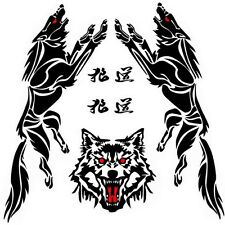 Gallop Wolf Car Body Decal Vinyl Car Sticker Wolf Head Hood Decal Wall Stickers