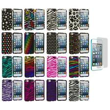 Zebra Polka Dot Hard Design Case+Screen Protector for iPod Touch 5th Gen 5G