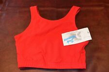 Body Wrappers Brand Sports Running Yoga Dance Bra New with Tags Red SMALL LARGE