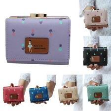 New Women lovely Short Purse Girl Clutch Wallet small Bag PU leather Card Holder