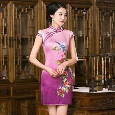 New Arrival Chinese Tradition Women's Mini Cheong-sam Dress S M L XL XXL