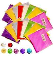 100 pcs 80*80mm Square Foil Wrappers for Candy Chocolate Sweets Confectionery