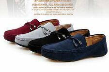 British New Men's Suede Casual Lace Slip On Loafer Shoes Moccasins Driving Shoes