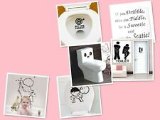 Bathroom Toilet Decoration Seat Art Wall Stickers Quote Decal Home Cute Decor TB