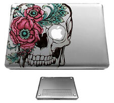 C470  Floral Sugar skull Case Cover For Macbook pro 13'' 15'/ Air 11'' 13''