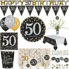 50. Birthday Party Item Deco Anniversary Set golden Wedding gold silver