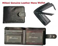 Milleni Mens Genuine Italian Leather Bifold Compact Wallet New - C5130