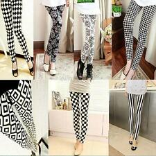 Hot Sexy Women Skinny Print Leggings Stretchy Sexy Jeggings Pencil Pants