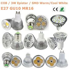 SMD/COB/Epistar/CREE GU10 MR16 E27 Spot Light 15W/12W/9W/7W/5W/3W LED Bulb LUX
