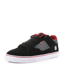 Mens Element Glt 2 Black Charcoal Red Suede Leather Skate Shoes Trainers Sz Size