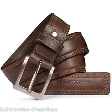 MENS LEATHER BELTS MENS GENUINE 100% BUFFALO LEATHER HIGH QUALITY BELTS