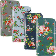 Fashion Ladies Faux Leather Floral Zip Long Coin Purse Womens Wallet Card Holder